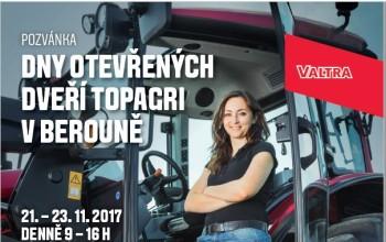 Pozvánka na Dny otevřených dveří TOPAGRI