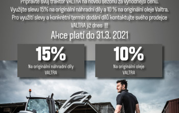 Předsezónní akce – připravte svůj traktor VALTRA
